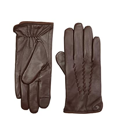 LAUREN Ralph Lauren Leather Whipstitch Touch Gloves (Country Brown) Over-Mits Gloves