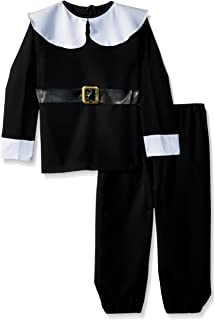 RG Costumes Pilgrim Boy Costume, Black/White, Medium