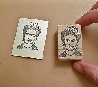 Frida - Hand carved rubber stamp