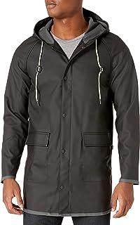 Levi`s Men`s Rubberized PU Hooded Rain Parka Jacket