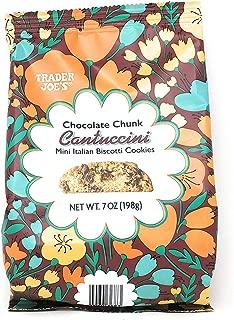 Trader Joe's - Chocolate Chunk Cantuccini Mini Italian Biscotti Cookies NET WT. 7 OZ (198g)