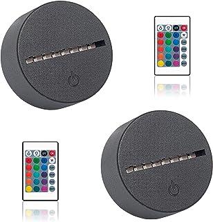 3d małych nocnych światła Wizualne kreatywne światło stereo, pilota kabla USB Regulowana, inteligentna domowa lampa biurko...