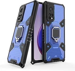 شاومى مي 10 تي / مي 10 تي برو (Xiaomi Mi 10T / Mi 10T PRO) جراب خلية نحل حماية ضد الصدمات مع مغنطيس للسياره - (ازرق شفاف)