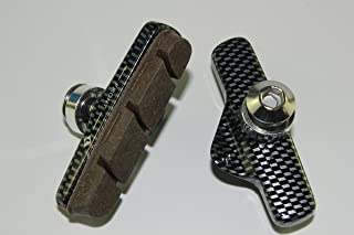 KINGSTOP JIM 2 Pairs of Brake Pads, Holders + Pads for Campagnolo Super Record 11 Speed Compatible,Campy for Carbon Rim