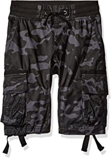 Twill Cargo Jogger Shorts in Solid and Camo Colors