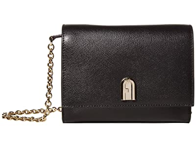 Furla 1927 Mini Crossbody 18 (Nero) Handbags
