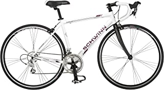 Schwinn Phocus 1400 and 1600 Drop Bar Road Bicycles for Men and Women, Featuring 41cm/Small or 56cm/Large Aluminum Frames with 16-Speed or 14-Speed Drivetrain, Carbon Fiber Fork, and 700c Wheels