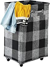 ALINK 85.8L Large Collapsible Laundry Hamper with Wheels, Waterproof Rolling Clothes Hamper Basket Bin for Dirty Clothes S...