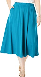 Woman Within Women's Plus Size 7-Day Knit A-Line Skirt