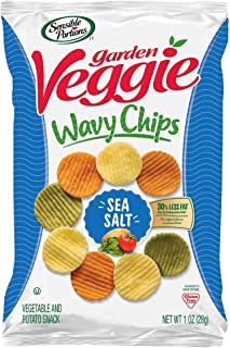 Sensible Portions Garden Veggie Chips, Sea Salt, Snack Size, 1 Oz (Pack of 24)