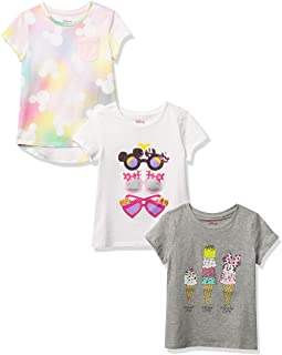 Amazon Brand - Spotted Zebra Girls' Disney Star Wars Marvel Frozen Princess Short-Sleeve T-Shirts