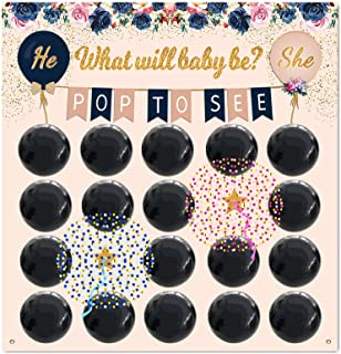 Gender Reveal Party Supplies Game , Baby Shower for Girl or Boy, Decoration Balloons Confetti,Prediction, Navy,Blush and B...