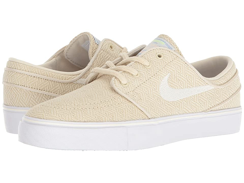 Nike SB Kids Stefan Janoski Canvas Premium (Big Kid) (Fossil/Sail/Royal Tint/Crimson Tint) Boys Shoes