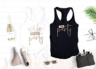 Funny Bachelorette Party Tanks, The Party Tanks, Wife of the Party Tank for Bride and Bridesmaids, Unique Shirt Colors and Gold Foil, Rose Gold and Silver Foil Graphics