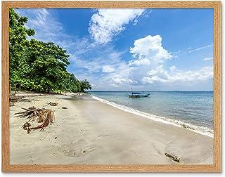 Crisco 1492 Karang Bolong Strand Tropisk Indonesien Foto Konst Tryck Inramad Affisch Vägg Dekor 30 x 40 cm Strand Tropisk ...