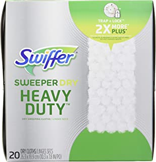 Swiffer Sweeper Heavy Duty Dry Sweeping Cloths - 20ct Multicolor