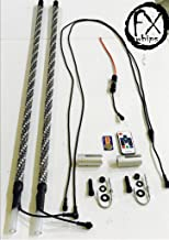 PAIR 3 ft TWISTED EXTREME LED LIGHT WHIPS