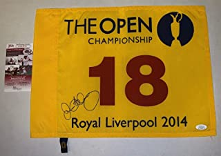 Rory McIlroy signed 2014 British Open Pin Flag Royal Liverpool Championship - JSA Certified - Autographed Golf Pin Flags