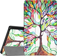Fintie Slim Case for All-New Amazon Fire 7 Tablet (9th Generation, 2019 Release), Ultra Lightweight Slim Shell Standing Cover with Auto Wake/Sleep, Love Tree
