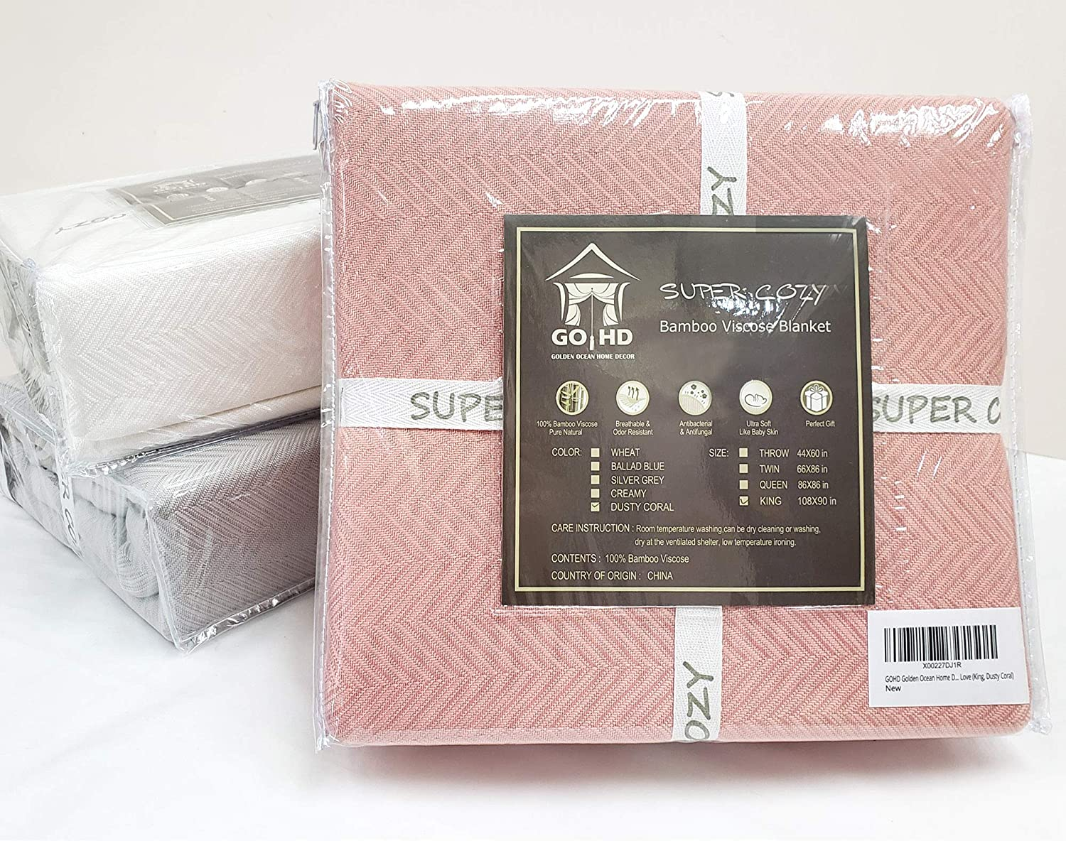 Super Cozy 100% Bamboo Fiber Blanket. Ultra Softness and smothness Like Silk. Drop Well with Heavy Weight. Much Better Than Normal Blankets