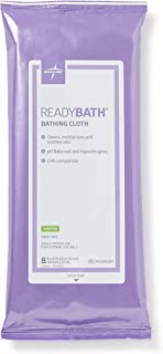 Medline ReadyBath Scented Body Cleansing Cloths, Standard Weight Wipes (8 Count Pack, 30 Packs)