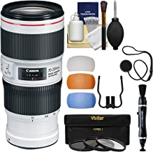 Canon EF 70-200mm f/4L is II USM Zoom Lens with 3 UV/CPL/ND8 Filters + Cleaning Kit