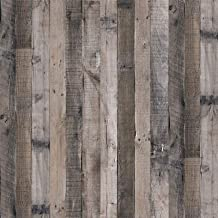 Faux Gray Wood Plank Wallpaper,17.7inch X 78.7inch Removable Self Adhesive Peel and Stick Wallpaper Wood Grain Texture Fil...