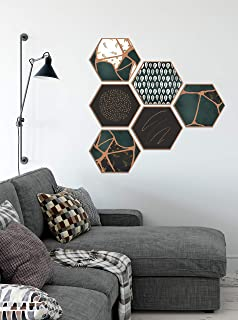 Europa™ Hexagon Wall Decor | Peel and Stick Self-Adhesive, UV Textured | DIY Wall Decoration, Home Decor Gifts, Wall Decor...