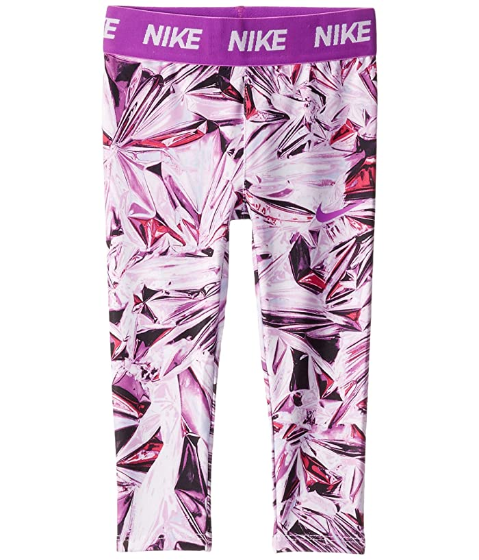 Nike Kids  Dri-FITtm Printed Leggings (Toddler) (Vivid Purple) Girls Casual Pants