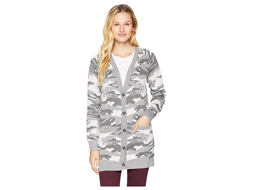 Lucky Brand Button Front Camo Cardigan Sweater (Multi) Women
