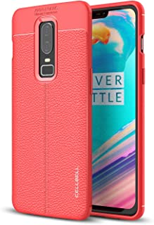 CELLBELL Autofocus Shock Proof Back Cover for OnePlus 6(Red)