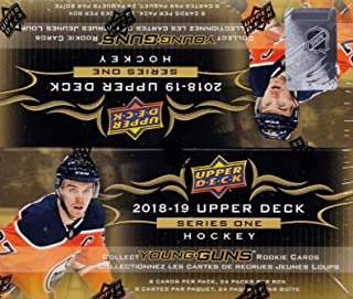 2018 2019 Upper Deck NHL Hockey Series One Factory Sealed Retail Box of 24 Packs Including 192 Cards Total with Possible Young Gun Rookie and Game Used Jersey Cards