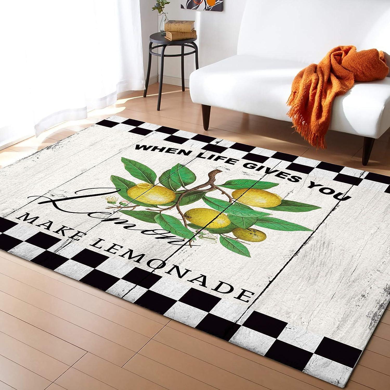 Fresno Mall ARTSHOWING Fruit Area Rug 2' x 3' Max 45% OFF Durable Carpet Floor for Sofa