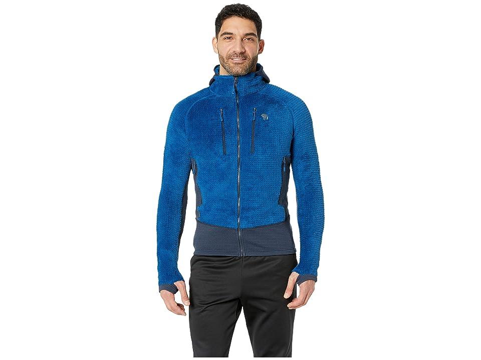 Mountain Hardwear Monkey Mantm Grid II Hooded Jacket (Nightfall Blue 2) Men