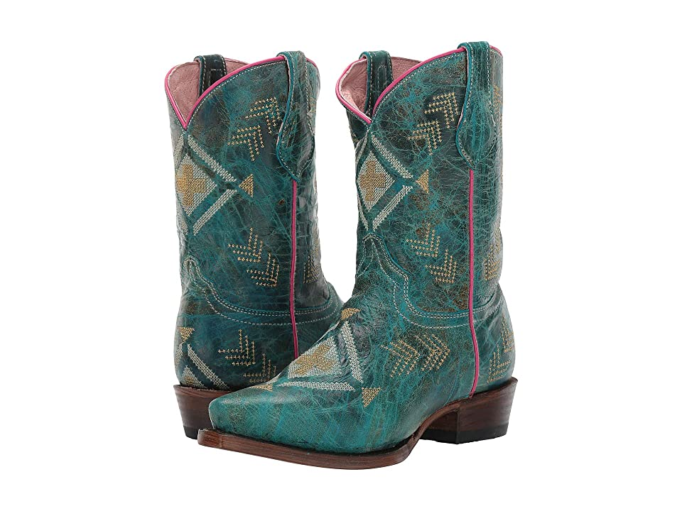 Roper Kids Snip Addy (Toddler/Little Kid) (Waxy Turquoise Shaft & Vamp/Native) Cowboy Boots