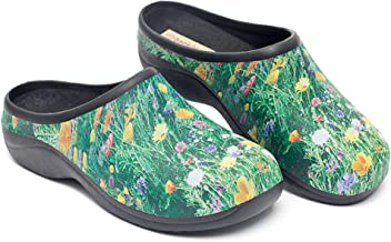 Backdoorshoes Waterproof Premium Garden Clogs with Arch Support-Meadow Design