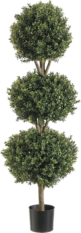 Silk Decor 1 National uniform free shipping 4'TRI Ball Boxwood Greenery GRTT Free shipping New TOP. P 48-in Tw