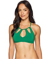 Luca High Neck Cut Out Top