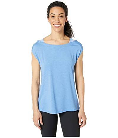 Columbia Place To Placetm Short Sleeve Shirt (Arctic Blue Heather) Women