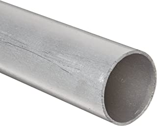 RMP 6061-T6 Aluminum Round Tube, 2 Inch OD x 0.125 Inch Wall, 48 Inch Length, Extruded, Unpolished (Mill) Finish