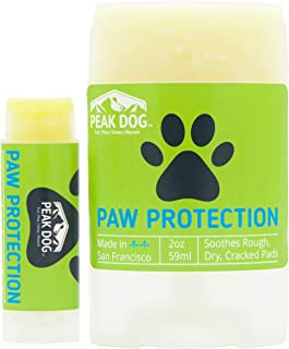 Paw Protection Wax Stick | Alternative to Boots for Dogs | All Natural Puppy Dog Paw Balm | Heals, Shields, and Soothes Cracked Rough Pads | Moisturizer Treatment for Dry Winter Skin