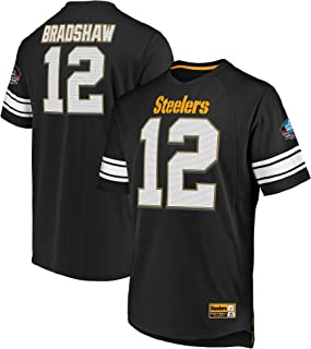 Terry Bradshaw Pittsburgh Steelers Hall of Fame Big & Tall Hashmark Jersey T-Shirt