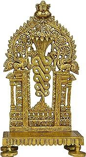 The Advitya Brass God Naga Throne | Singhasan | Chair for Temple & Pooja & Placing God Idol/Statue/Murti (Large)