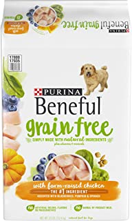Purina Beneful Grain Free, Natural Dry Dog Food, Grain Free With Real Farm Raised Chicken - 23 lb. Bag