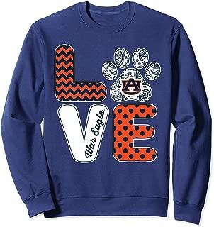 Auburn Tigers Love - Paw - Ver 2 Sweatshirt - Apparel