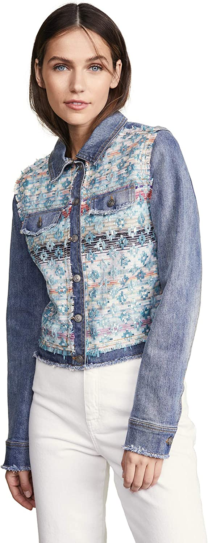 Ramy Brook Women's Murray Denim and Tweed Jacket