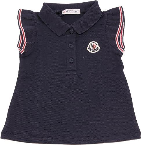 MONCLER 9273T Polo Bimba Maglia bleu t-Shirt Polo Girl Enfant