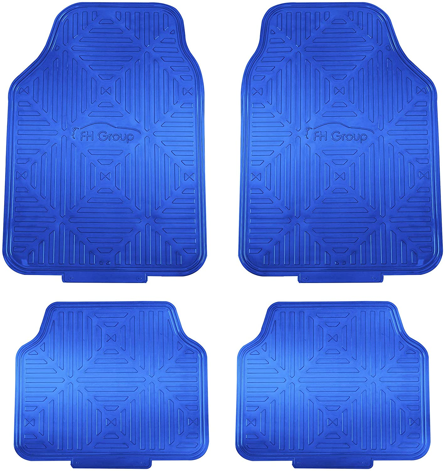 FH Group F14410BLUE Metallic Finish Floor Backing Rubber Mats Max 82% OFF B New product type