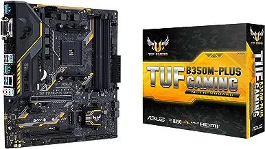 ASUS AMD Ryzen AM4 DDR4 HDMI DVI VGA M.2 USB 3.1 MicroATX B350 Motherboard (TUF B350M-PLUS GAMING)