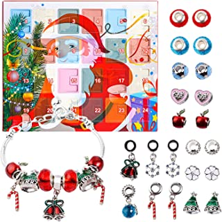 KITPIPI Advent Calendar DIY Bracelets Fashion Jewelry Set with 22 Charms 2018 Christams Countdown Calendar Gifts for Women...